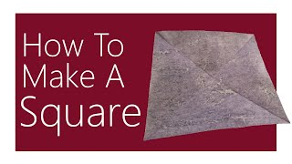 The BEST Way To Make A Square Sheet Of Paper