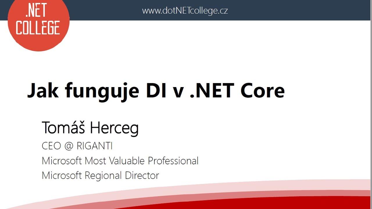 Jak funguje DI v .NET Core