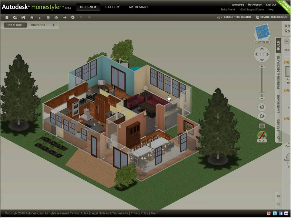 Perfect Autodesk Homestyler U2014 Share Your Design (2010)   YouTube