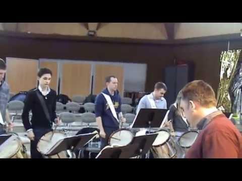 répétition des Tambours de la Côte d'Opale à Loon-Plage le 28 Février 2015