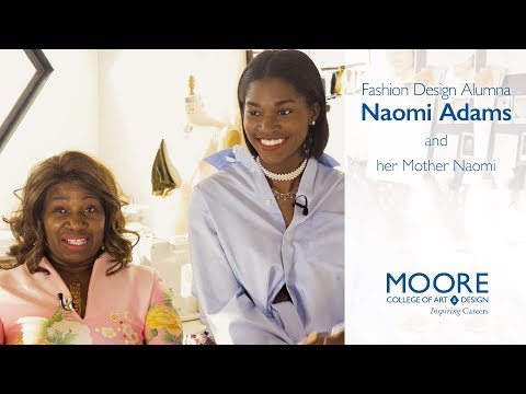 Naomi Adams '17 and her mother discuss Naomi's fashionable future
