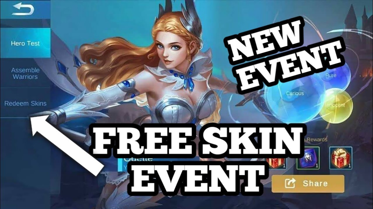 new free skin event| win skins based on your personality| mobile legend bang bang