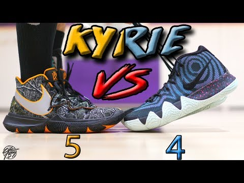Nike Kyrie 5 vs Kyrie 4! What's Better??