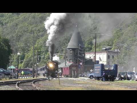 Reading and Northern 425 Steam train cab ride in the Lehigh Gorge LGSRY HD