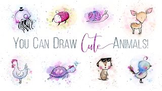 You Can Draw Cute Animals In 3 Simple Steps // Skillshare Class Trailer