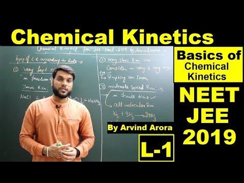 (L-1) Chemical Kinetics (Basics Of Chemical Kinetics) | NEET JEE 12th Board | By Arvind Arora