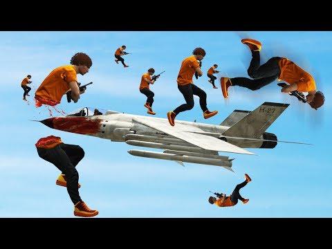 BRUTAL JET DODGE CHALLENGE! (GTA 5 Funny Moments)