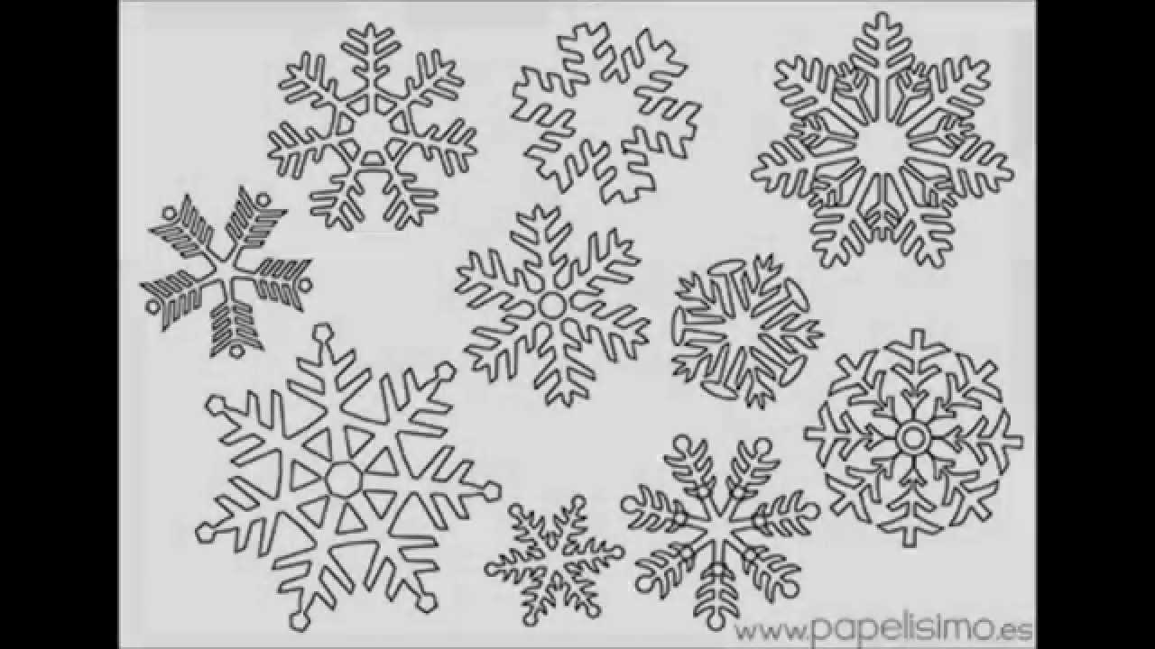 Copos de nieve para colorear (para niños) - YouTube