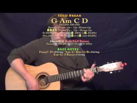 Top Of The World (Tim McGraw) Guitar Lesson Chord Chart - Capo 1st