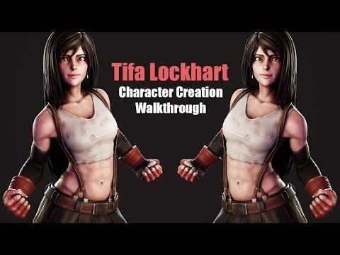 3D Character Creation Walkthrough - Part 1 - Sculpting Tifa from Final Fantasy VII