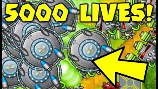 Can HELI Go LATEGAME? :: 5000+ LIVES In BANANZA! - Bloons TD Battles