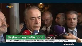GS Başkanı Mustafa Cengiz'in en mutlu günü