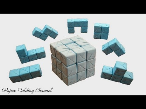 Origami Puzzle 3x3x3 3d Cube Youtube