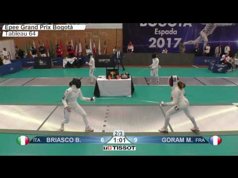 FE F E Individual Bogota COL Grand Prix 2017 T64 11 green GORAM FRA vs BRIASCO ITA