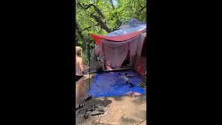 Primitive Camping at Tuŗner Falls   Campsite Tour   Turner Falls, Oklahoma