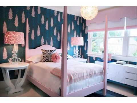 Pink and Blue Girls Bedroom Ideas