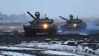 Учения: танки совершили манёвр во фланг противника!