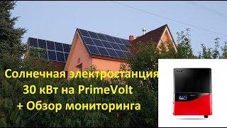 Обзор мониторинга инверторов PrimeVolt, солнечная электростанция 30 кВт