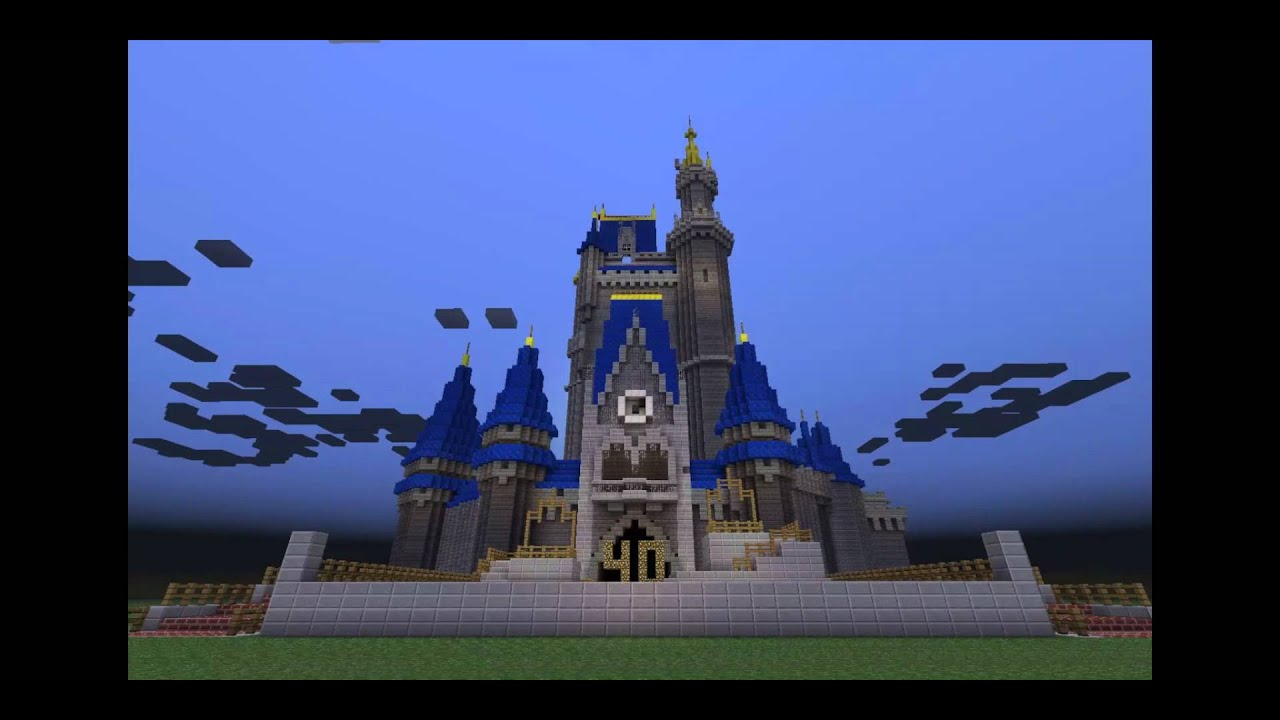 Cinderella Castle Magic Kingdom Minecraft Youtube