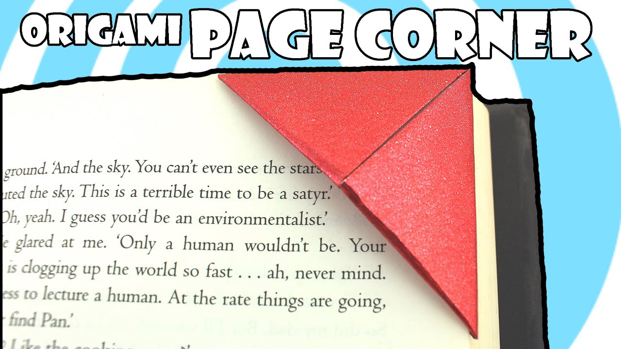 Very Easy Origami Page Corner ( How to Video) - YouTube - photo#32