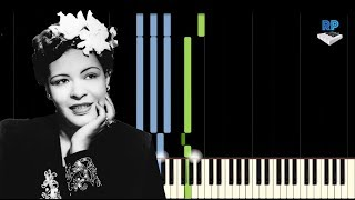 Billie Holiday - I Cant Give You Anything But Love, Baby - Synthesia Piano Tutorial