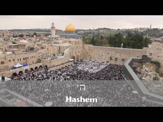 Birkat Kohanim (Priestly Blessing) at the Kotel in Jerusalem 5771 (2011)