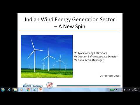 CARE Ratings Webinar on Indian wind energy generation sector - 26-02-2018