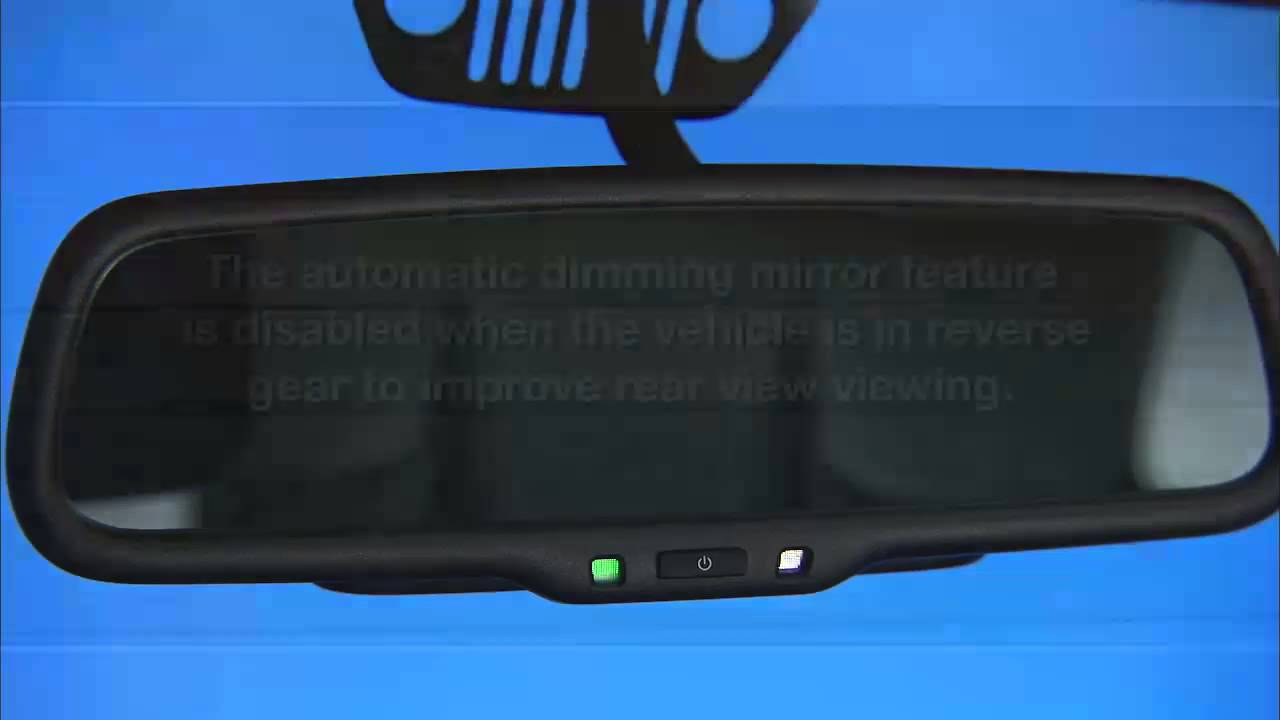 2014 Jeep Wrangler Automatic Dimming Mirrors  YouTube
