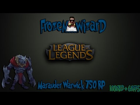 Marauder Warwick - Skin Spotlight League of Legends - 17.01.2015. (750RP)