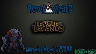 Marauder Warwick - Skin Spotlight League of Legends - 17.01.2015. (750RP)
