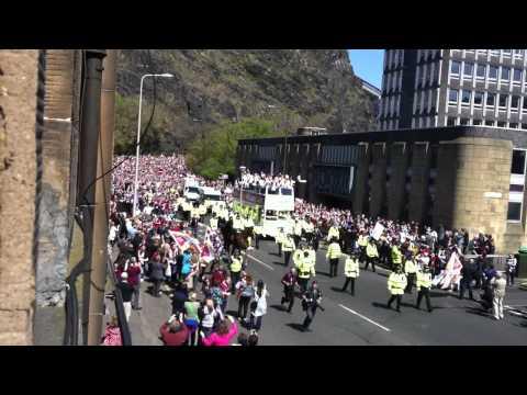Hearts parade Edinburgh, 20th May 2012