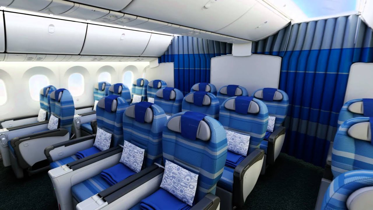 Lot boeing 787 dreamliner youtube for First class 8 interieur