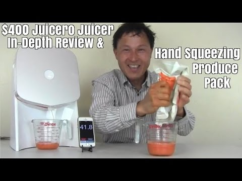 $400 Juicero Juicer In-Depth Review & Hand Squeezing Produce Pack