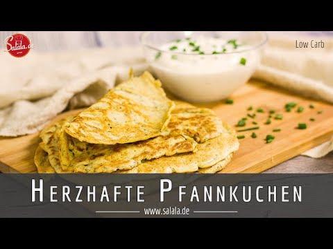 Herzhafte Pfannkuchen ohne Mehl selber machen Low Carb Rezept