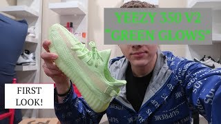 413da6e94 EARLY LOOK YEEZY 350 V2 GREEN GLOWS  quot GID quot  ON FEET AND REVIEW (