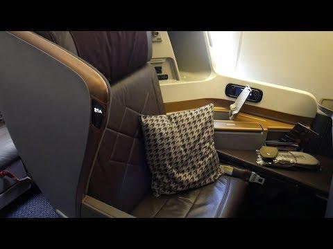 Singapore Airlines SQ11 Tokyo Narita to Singapore Business Class B777-300ER