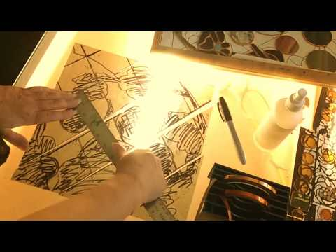 Artist Anik Qualia, stained glass, time lapse. Enter