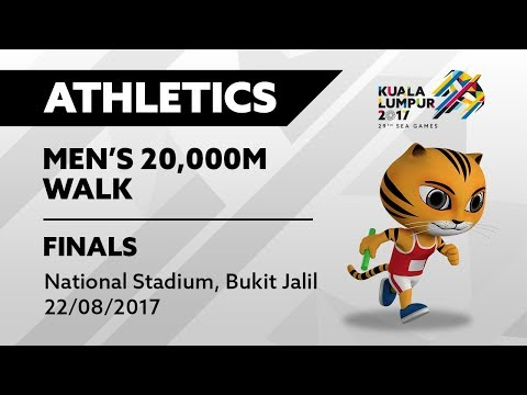 KL2017 29th SEA Games | Athletics - Men's 20,000m Walk FINALS | 22/08/2017