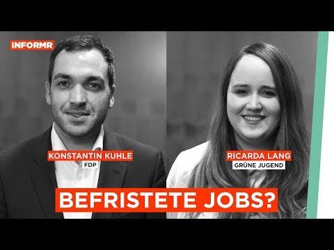 Jobs mit Verfallsdatum: Sind Befristungen legitim? (FDP VS Grüne)