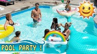 POOL PARTY en famille ! 👙 / Vacances Corse été 2018 / Vidéo piscine