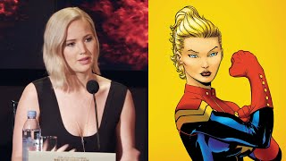 Jennifer Lawrence Reacts To Captain Marvel Question - The Hunger Games Mockingjay Part 2