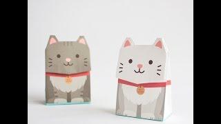 動物包裝紙袋影片教學-貓咪 Animal Gift Bag CAT | GOTOME