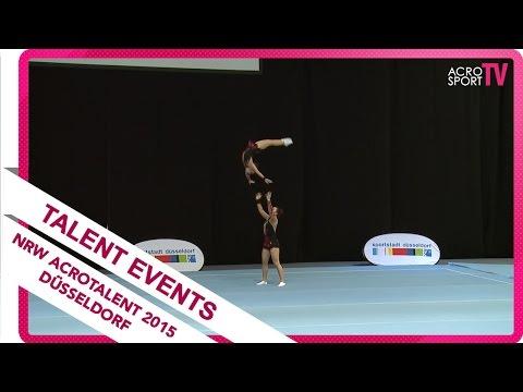 Matuzschak, Rogaleva - LZSA Düsseldorf - NRW Akro Talent - Düsseldorf 2015