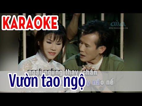 Vườn Tao Ngộ - Karaoke Song Ca | Tuấn Vũ & Sơn Tuyền | Asia Karaoke Beat Chuẩn
