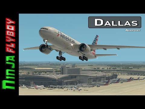 Dallas Fort Worth with Live ATC and Real Airline Flight Schedules | Flight Simulator | X-Plane 11