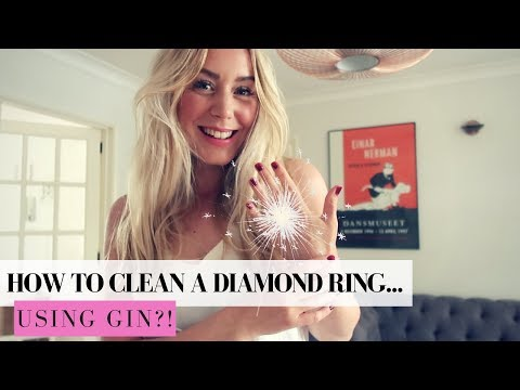 HOW TO CLEAN A DIAMOND RING AT HOME..WITH GIN | SJ STRUM