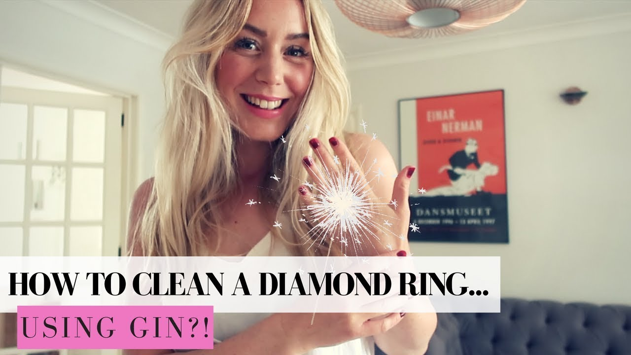 HOW TO CLEAN A DIAMOND RING AT HOME  WITH GIN | SJ STRUM