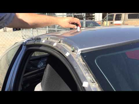 Honda Insight windshield moulding/ roof pillar/ garnish removal, by Killer 3 Cylinder