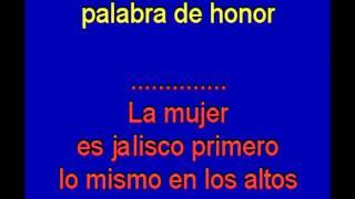 Ay Jalisco no te rajes -   Jorge Negrete  -  karaoke   Tony Ginzo