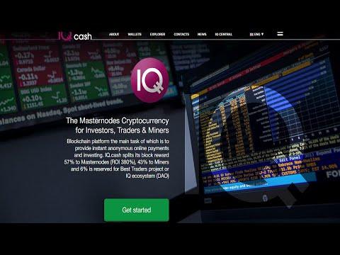IQ Cash – Blockchain Platform for Masternodes 57% Crypto Investors,  Traders (ROI 380%) & Miners 43%